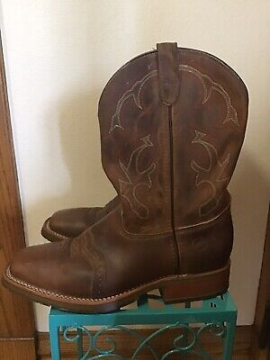 Double-H Square Toe ICE Roper DH3560 Western Cowboy Boots Work Men's Size 10 1/2