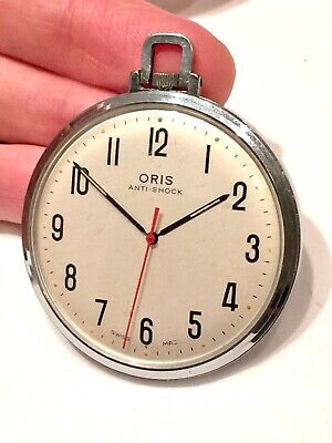 Vintage Swiss Oris Pocket Watch ft. Red Second Hand