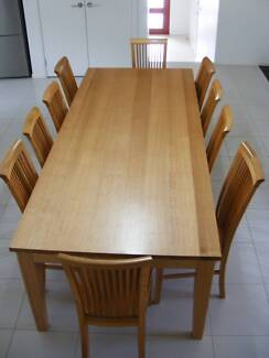 Tassie Oak 10 Seater Dining Table and Chairs