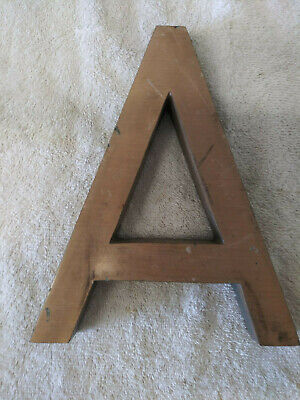 Vintage Architectural Salvage Large Heavy Bronze Letter