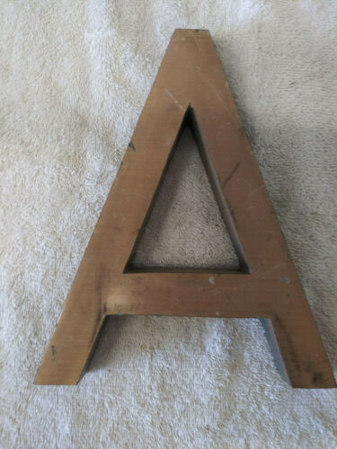 """Vintage Architectural Salvage Large Heavy Bronze Letter """"A""""  a 8"""""""