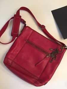 Red Leather Cross Body bag by The Sak