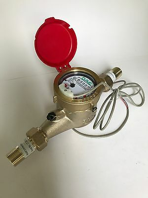 Dae Mj-75r Lead Free Hot Water Meter 34 Npt Couplings Pulse Output Gallon
