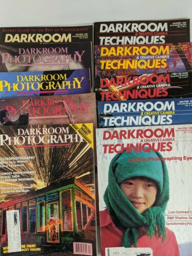 10  Photography Magazines (Darkroom Photography; Darkroom Techniques) 1980s