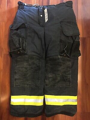 Firefighter Janesville Lion Apparel Turnout Bunker Pants 38x30 08 Black Costume