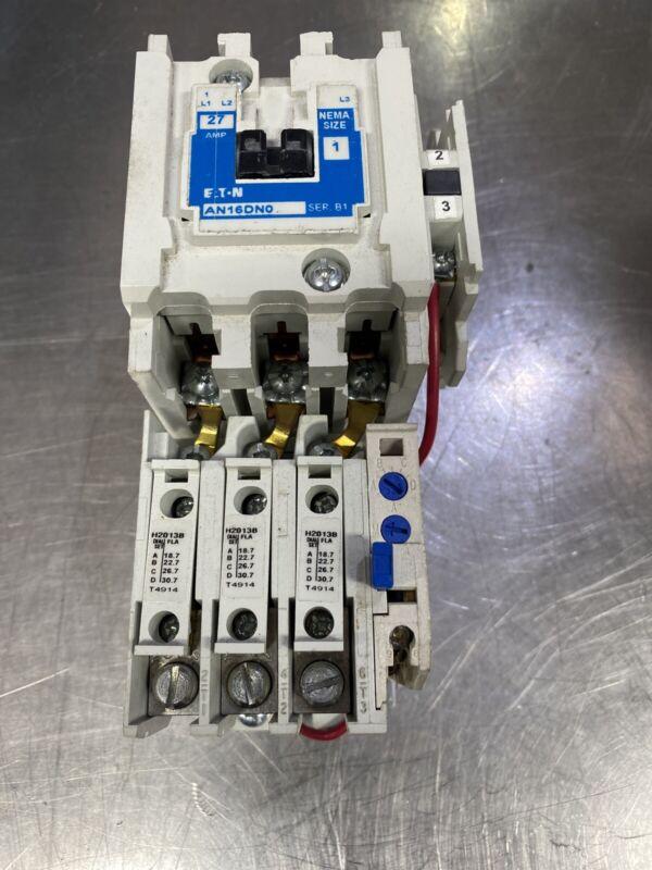 Cutler Hammer AN16DN0 Size 1 Motor Starter 3P w/ C320KGS1 and C306GN3