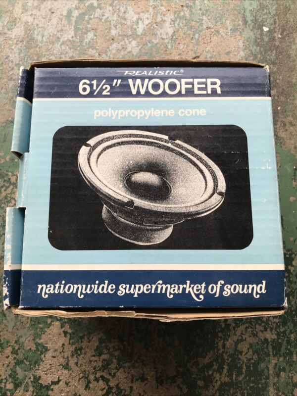 """Realistic Poly Cone Woofer 40-1011A 6.5"""" 16.5cm - New in Opened Box Speaker"""