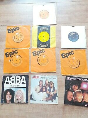 "ABBA 7"" SINGLES JOBLOT - 10 RECORDS - WATERLOO, ONE OF US ,FERNANDO"