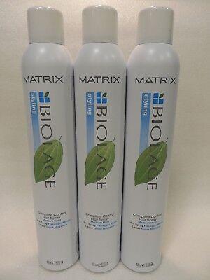 MATRIX BIOLAGE COMPLETE CONTROL HAIR SPRAY 400 ML (Lot of 3)  GREEN - Green Hairspray
