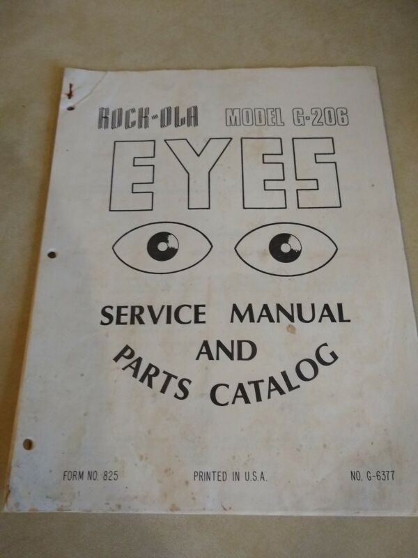 Rockola Eyes Arcade Manual