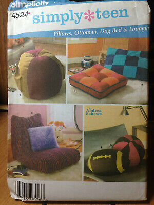 PILLOWS, OTTOMAN, DOG BED, LOUNGER - Uncut Sewing PATTERN Simplicity 4524