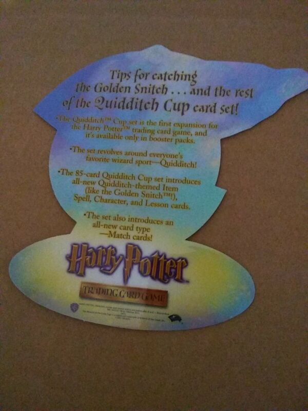 Harry Potter Quidditch Cup TCG 9 x 9 new window cling and promo hanging snitch