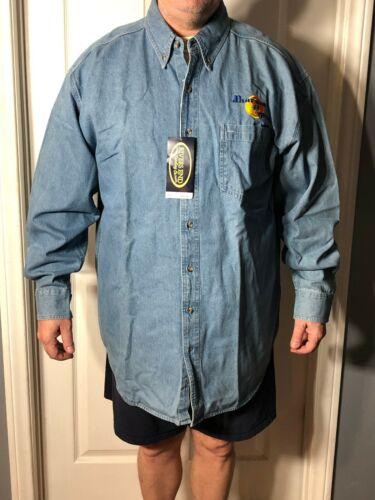 Dharma & Greg-Fox TV Show very rare crew gift embroidered denim shirt-Size XL