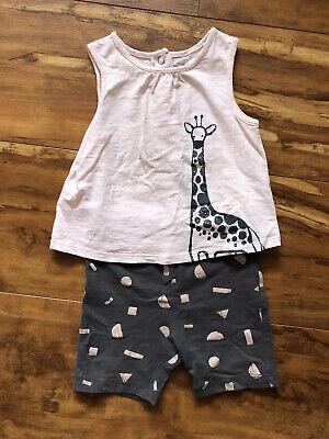 Baby Girl Focus Kids Giraffe Short Sleeve And Shorts 12 Month -
