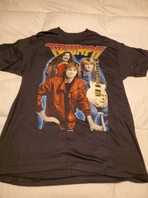 1985 VINTAGE TRIUMPH THUNDER WORLD TOUR CONCERT TSHIRT NEW SIZE large VINTAGE