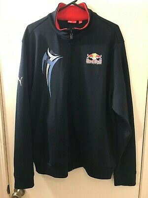 PUMA RED BULL Racing Zipper Front Black Athletic Sport Jacket Adult Size XL VGC