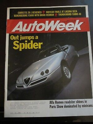 Autoweek Magazine October 1994 Out Jumps a Spider Alfa Romeo Roadster (Y)