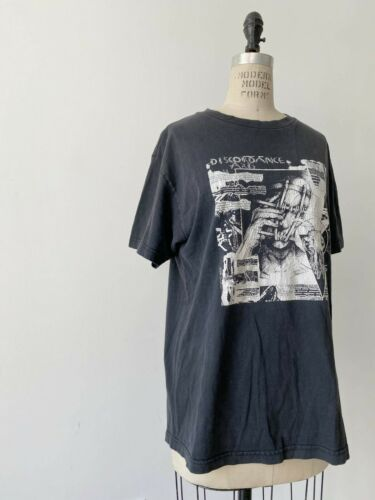 ⭕ 90s Vintage Discordance Axis shirt : Punk Hardcore Grindcore assuck spazz 80s