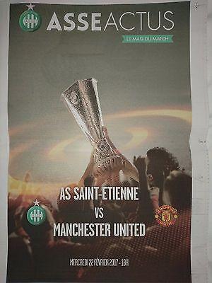 2016/17   St Etienne    v     Manchester United    MINT  +  Match Report