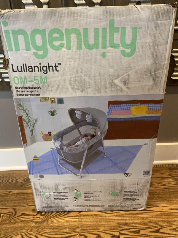 Ingenuity Lullanight Soothing Bassinet, Grey - NEW/Sealed