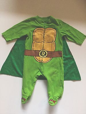 Teenage Mutant Ninja Turtles Halloween Kostüm Anzug Cape Baby Sz 6M