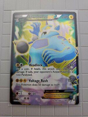 Pokemon TCG:Thundurus EX 98/108 Full Art Roaring Skies Holo Rare - M/NM