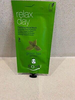 10 X Green Tea  Facial Peel-Off, Purifying  Face Mask Iroha  Nature New