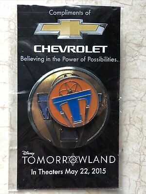 NEW Disney Tomorrowland Movie Release Pin 2015 New Unopened Chevrolet Chevy