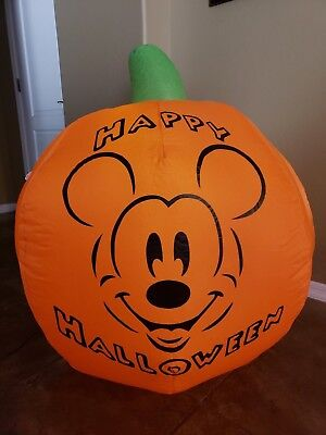 Gemmy Disney Mickey Mouse Halloween Pumpkin Airblown Inflatable Yard Blowup - Mickey Mouse Inflatable Halloween