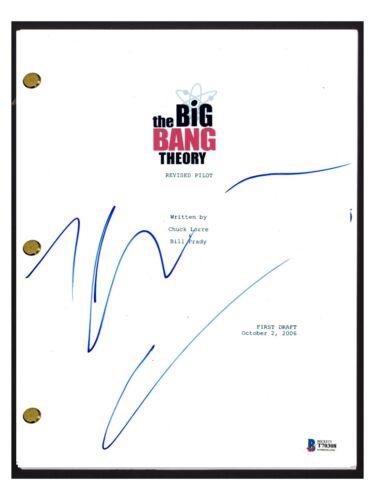 Johnny Galecki Signed Autographed THE BIG BANG THEORY Pilot Script Beckett COA