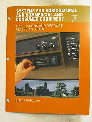 1999 John Deere Dealer Radio Systems Applications Product Reference Guide