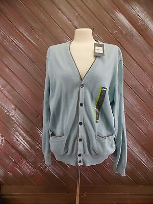 John Bartlett Sweater Concensus Button Up Cardigan Men's Size Large NWT $55