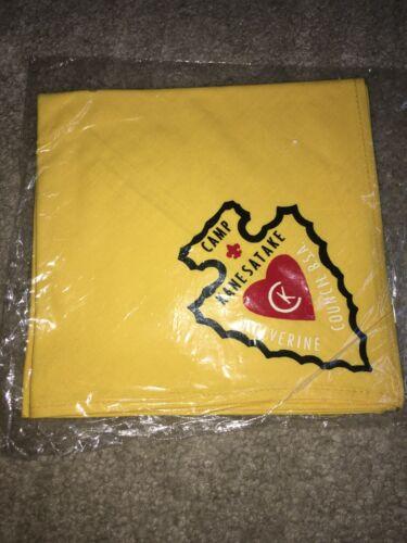 Boy Scout BSA Camp Kanesatake Wolverine Yellow Michigan Council Neckerchief