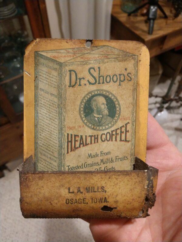 ***RARE*** Dr Shoops Health Coffee Advertising LA Mills Osage Iowa Match Holder
