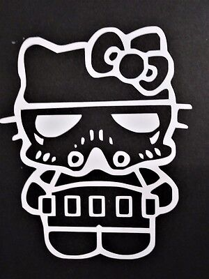 Hello Kitty Storm Trooper Vinyl Decal for laptop windows wall car boat](Hello Kitty Stormtrooper)