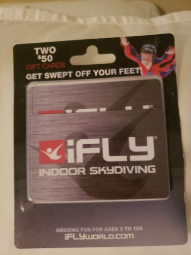 IFly 100 Gift Cards 50x2 Indoor Skydiving Flying - $50.00