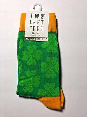 Shamrockin' St. Patricks Day Unisex Socks by Two Left Feet® Mens/Womens Size - St Patricks Day Socks