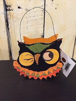 Bethany Lowe-Sassy Cat & Friends Bucket (Owl)