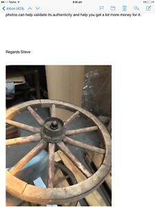 Antique Trolley- Wagon Wheels .. Shop Prop