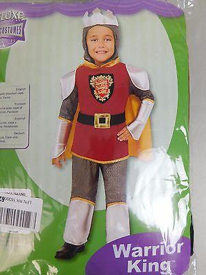 Rubie's 610688 Warrior King Deluxe Knight Boy's Halloween Costume Large (Warrior King Kostüm)