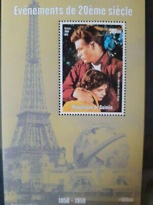 T134 Bloc feuillet GUINEE 1998 PARIS TOUR EIFFEL Mort JAMES DEAN 500GNF MNH
