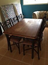 6 seater timber dining setting East Kurrajong Hawkesbury Area Preview