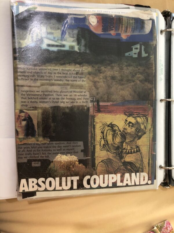 Print Ad Absolut Coupland Vodka Vintage Advertisement