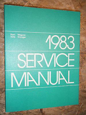 1983 DODGE RAM VAN WAGON PLYMOUTH VOYAGER FACTORY SERVICE MANUAL REAR WHEEL - 1983 Plymouth Van Wagon