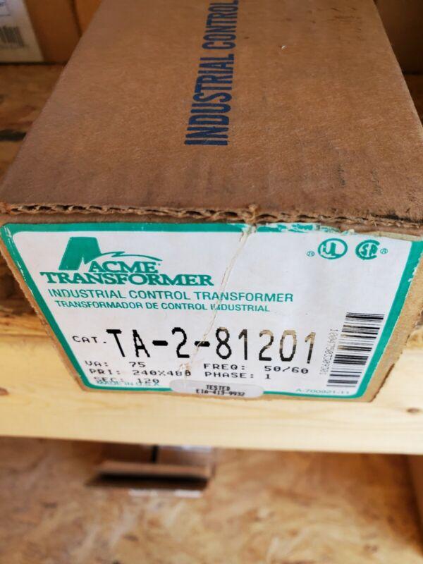 NEW Acme Transformer Control Transformer TA-2-81201 75VA