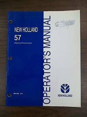 New Holland 57 Owners Manual