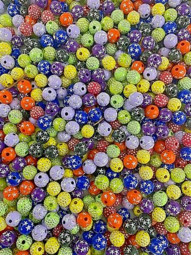 1lb bag of 8mm Acrylic Beads Various Colors and Styles WKRM