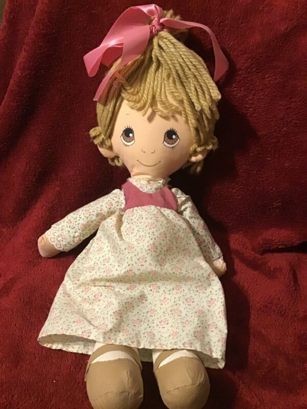 Puddin Rag Doll Cloth Doll Plush 1980 Made By Amtoy 15""