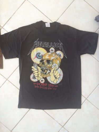 Vintage Metallica T-Shirt 1988 Shortest Straw In Vertigo XL 46-48 NEW /Old Stock