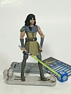 """Star Wars The Clone Wars Quinlan Vos #CW36 Complete 3.75"""" Figure 2010"""
